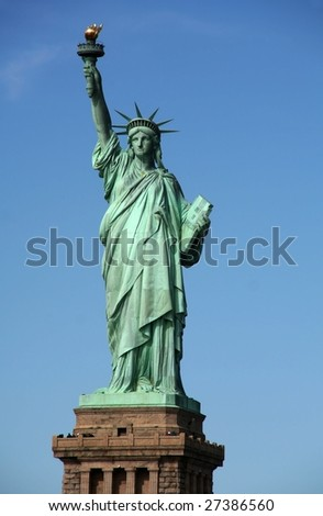 The Liberty Statue - New York - stock photo