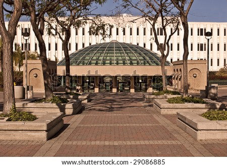 The Library at San Diego State University - a large public university. - stock photo