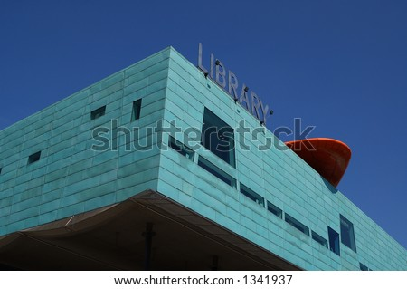 The Library in modern Peckham, London - stock photo
