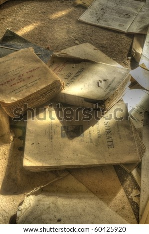 the Library is in Ruins - stock photo
