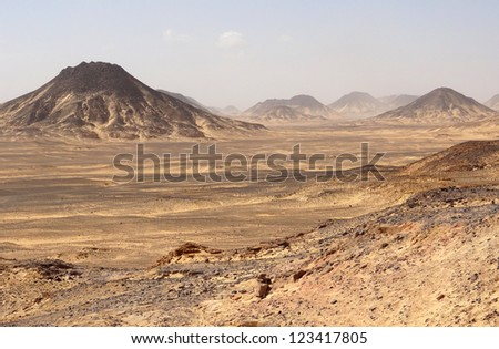 the Libyan Desert in Egypt