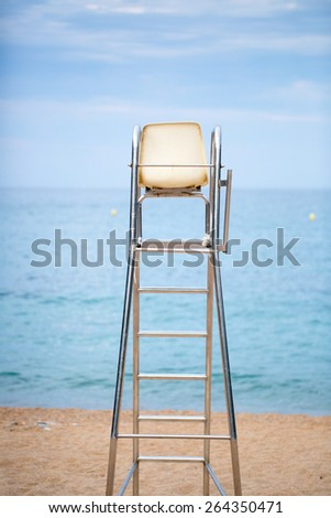 The lifeguard chair on the beach photo for you - stock photo