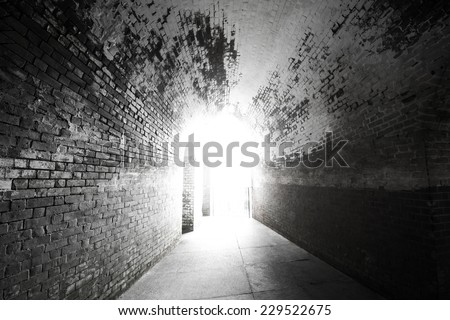 the light at the end - stock photo