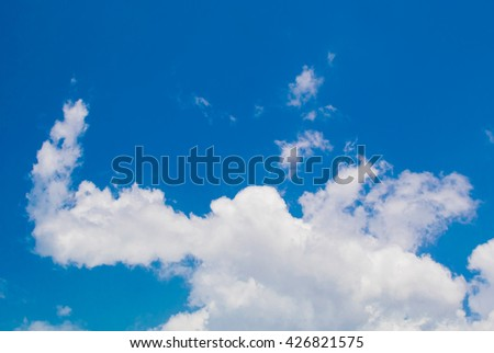 The light blue sky in the sunny day. - stock photo