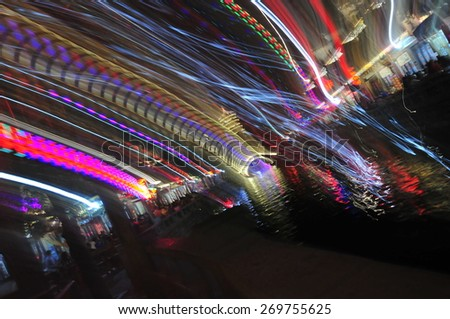 The light in the dark, the abstract background - stock photo