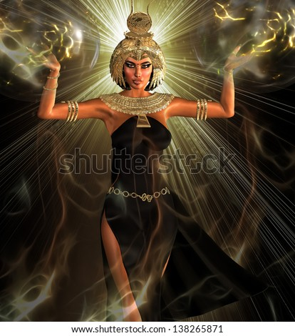 The Light Of Egypt.Before the dawn of Egypt's awakening unto herself,a light appeared upon the bridge between man and his heavens,some believe that light was an apparition of Art in all her splendor. - stock photo