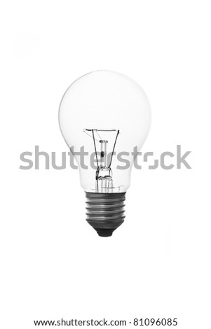 The lightbulb, eco and save energy concept - stock photo