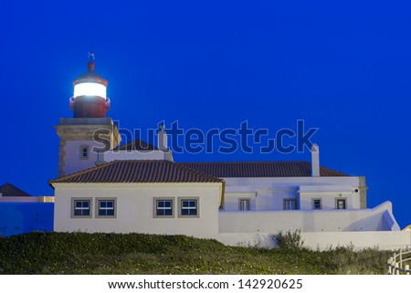 The lighthouse at Cape Roca. (Portugal)