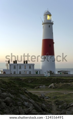 The lighthouse at Portland Bill near Weymouth in Dorset