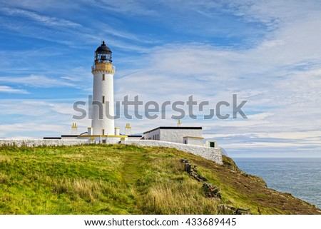 The lighthouse at the Mull of Galloway, the most southerly point of Scotland.