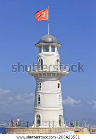 The lighthouse of Alanya's harbor