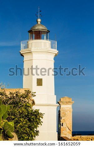 The lighthouse of Capo Zafferano in Sicily (Italy)