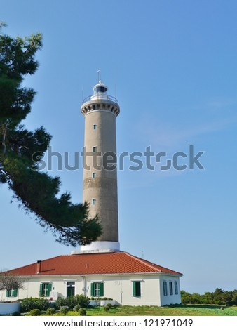 The lighthouse of Veli Rat on the island Dugi Otok in Croatia