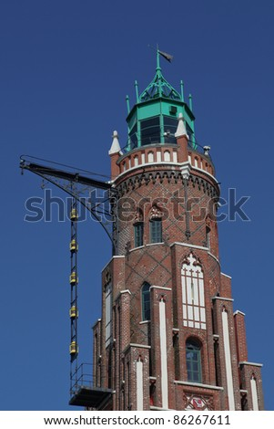 the lighthouse Simon Loschen in Bremerhaven, Germany - stock photo