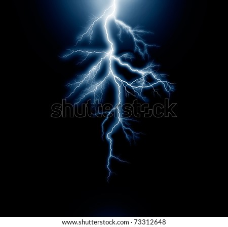 the lightning - stock photo