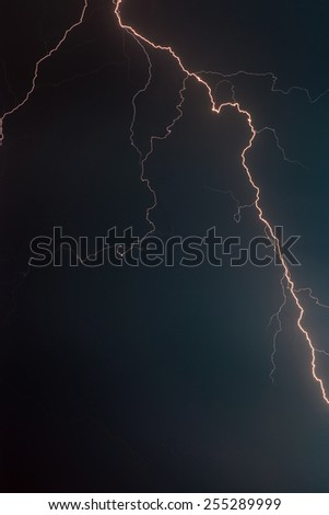 The Lightning Bolt in the Night Sky