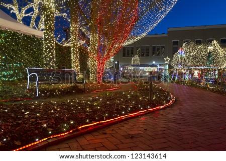 Lights Ozarks Downtown Fayetteville Arkansas Stock Photo 123143614 ...