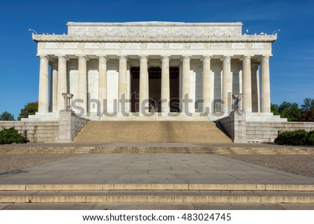 The Lincoln Memorial at early morning, Washington, DC