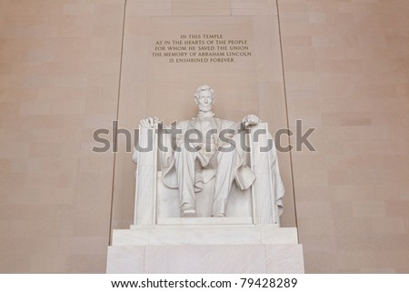The Lincoln Memorial in Washington - stock photo