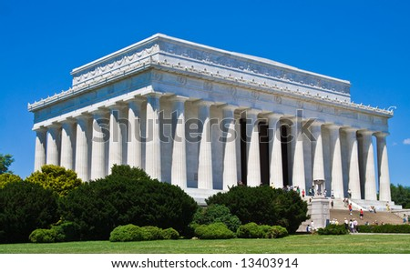 The Lincoln memorial in Washington DC. - stock photo