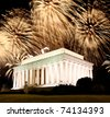 The Lincoln memorial in Washington DC USA - stock photo
