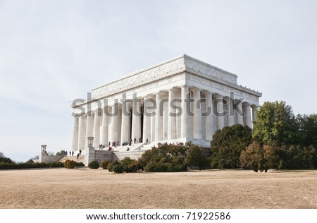 lincoln memorial building clipart. the lincoln memorial in washington dc usa building clipart