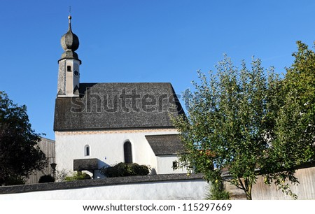The little church of Sondermoning near the Lake Chiemsee is more than 800 years old
