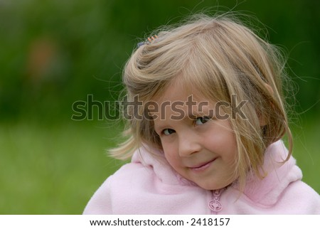 the little girl - stock photo