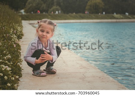 The little girl in the Park