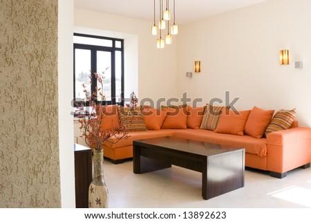 The living room furniture set - stock photo