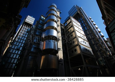 The Lloyds Building in London - stock photo