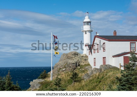 The Lobster Cove Head Lighthouse in Rocky Harbour, Newfoundland