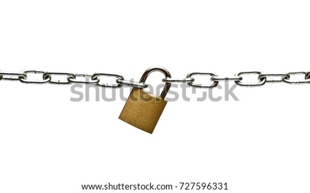 The lock connects the chain