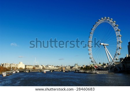 london big wheel on river thames stock photo royalty free 28460683