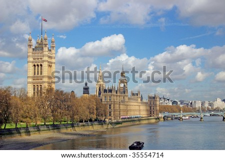 the london westminster palace - stock photo