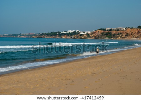 The long deserted beaches of the Portuguese coast
