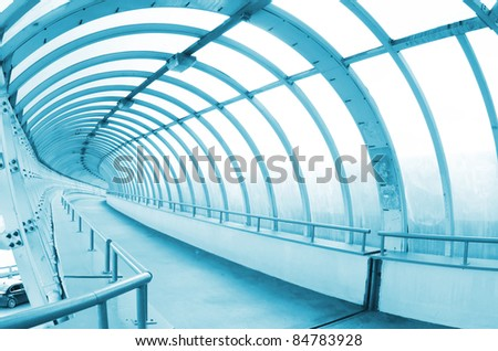 The long passage in airport - stock photo