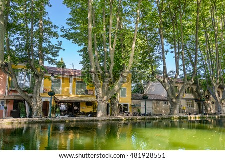 The Long Pond in Cucuron the hill top village in the Luberon Provence