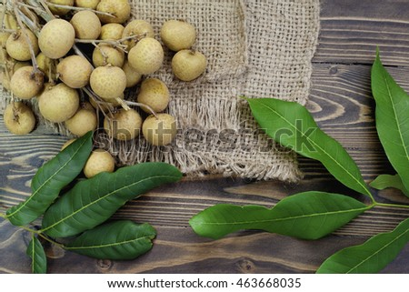 the longan is delicious fruit and brown background