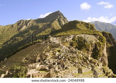 The Lost City of Machu Picchu near Cusco, Peru. - stock photo