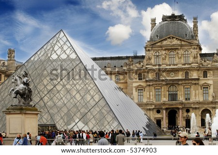 The louvre - stock photo