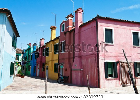 the lovely city of venice in italy. island of burano