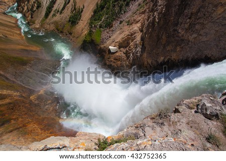 The Lower Falls on the Yellowstone River ( Yellowstone National Park, Wyoming)