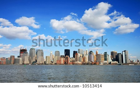 The Lower Manhattan Skyline viewed from Liberty Park New Jersey