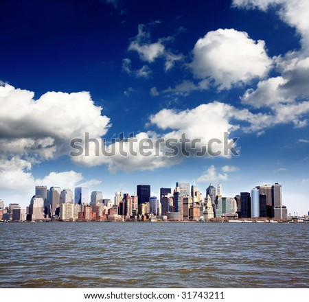 The Lower Manhattan Skyline viewed from New Jersey side