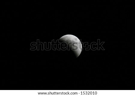 The Lunar eclipse on October 27, 2004 - stock photo