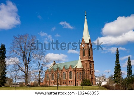 The Lutheran Cathedral of Mikkeli, Finland - stock photo