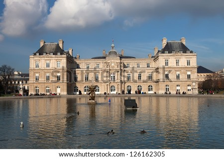 The Luxembourg Palace in Paris, France - stock photo