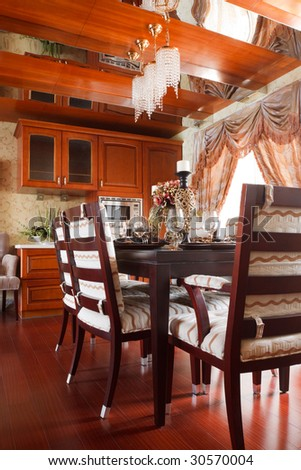 the luxury diningroom interior