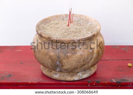 The mable incense base - stock photo